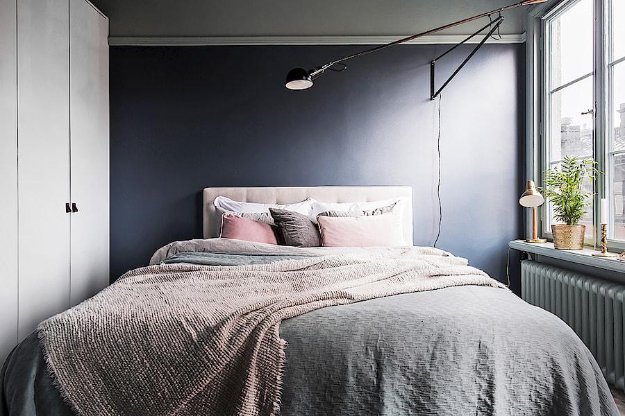 väggfärg grå sovrum