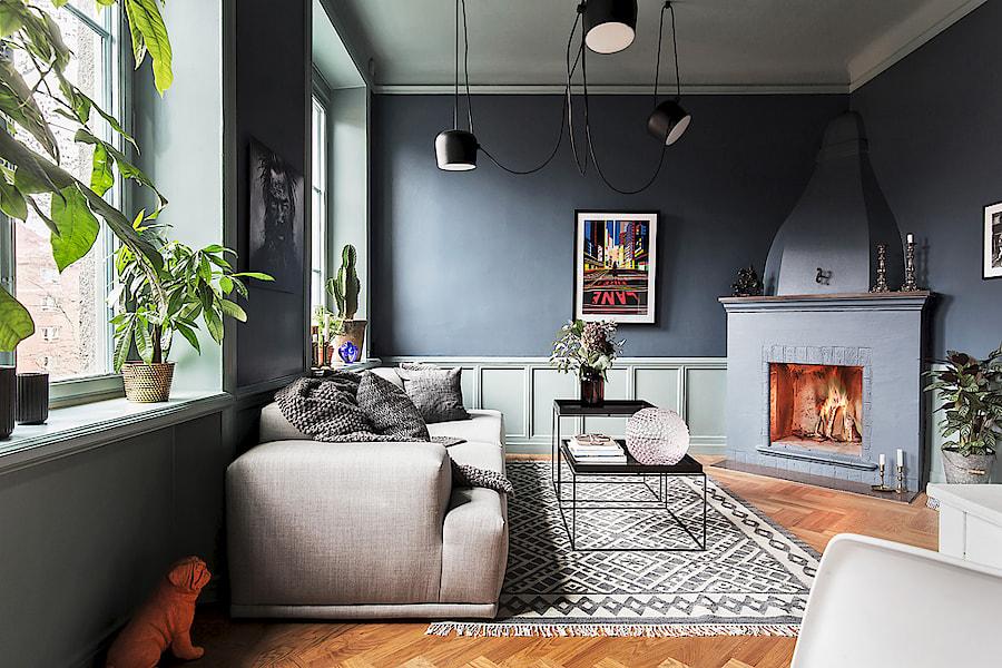 väggfärg grå
