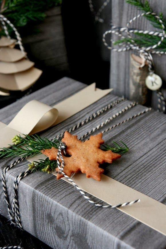 julklapp inslagning pepparkaka
