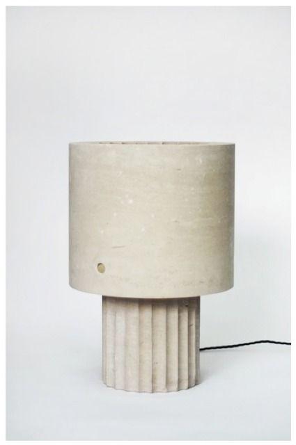 kalkstens lampa