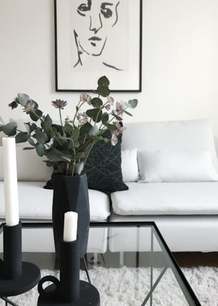 Homestyling vit soffa ikea
