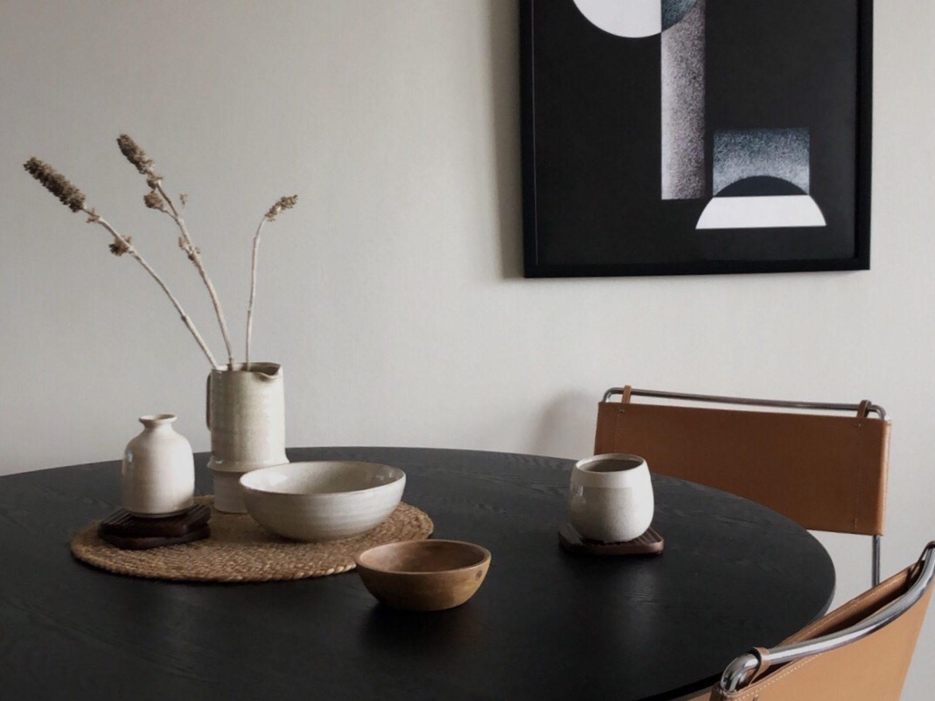 Studio In, Sjöstjärnan Balder, Visningslägenhet, matplats, runt bord, homeroom, byon